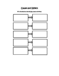 Cause And Effect Graphic Organizer With Questions For Any Text