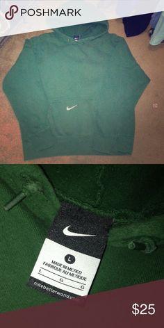Mens green NIKE sweatshirt In great used condition! No stains/marks! Nike Shirts Sweatshirts & Hoodies