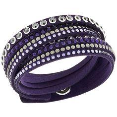 Swarovski Slake Rock Purple Bracelet (91 CAD) ❤ liked on Polyvore featuring jewelry, bracelets, accessories, purple jewellery, bracelet bangle, swarovski bracelet, purple bracelet and swarovski jewelry