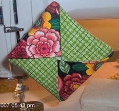 Folded Patchwork Ornament | FaveQuilts.com