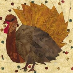 November Turkey Quilt Block Pattern