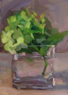 "Daily Paintworks - ""Green Hydrangea"" - Original Fine Art for Sale - © Holly Storlie"