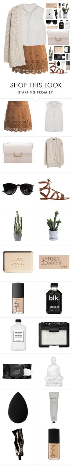 """Back to Nature"" by novalikarida on Polyvore featuring Sans Souci, MANGO, Ray-Ban, Gianvito Rossi, Chanel, The Body Shop, Barry M, NARS Cosmetics, Kat Von D and Lalique"