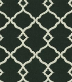 Waverly Sun N Shade Outdoor Fabric-Chippendale Fretwork Onyx