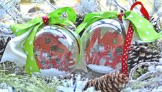 His and Hers Christmas Ornaments, Our First Christmas as Mr. and Mrs.  by CBP SO Beautiful! #PerfectGift #Gifts #Ornaments #Christmas #Xmas #Custom #BestGift
