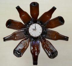 Resultado de imagen para reloj de botellas