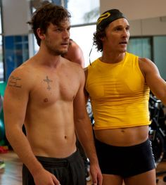 Matthew McConaughey's belly shirt haha both of these guys are pretty sexy though. I enjoyed #magicmike