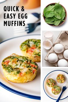 Whether you're a big egg muffin fan or have yet to jump on the egg muffin bandwagon, you're going to want all the deets on how to make these Egg Muffins For One. This recipe not only guarantees you have a healthy breakfast ready to grab and go in the AM, but it's also packed full of anti-inflammatory ingredients. This egg muffin recipe will quickly become a breakfast staple and will make mornings far less stressful. Clean Eating Recipes, Healthy Recipes, Danette May, Grab And Go Breakfast, Egg Muffins, Mornings, Easy Meals, Eggs, Egg