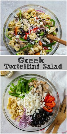 Sharing a recipe for Greek Tortellini Salad. This is an easy and delicious pasta salad recipe. Greek Tortellini Salad, Tortellini Pasta, Pasta Salad, Greek Pasta, Crab Salad, Shrimp Salad, Egg Salad, Chicken Salad, Vegetarian Recipes