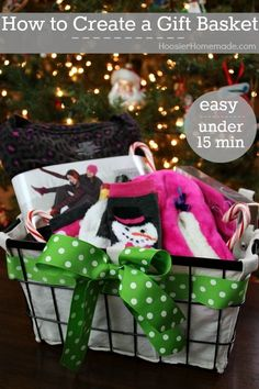 Take gift giving to the next level! Learn How to Create a Gift Basket in minutes! Pin to your DIY Board! by Olive Oyl