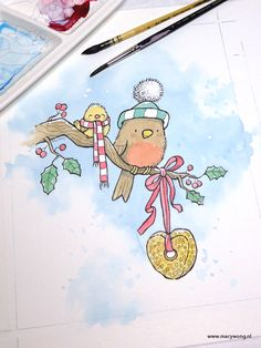 Christmas birds 2 – Macy Wong illustrations