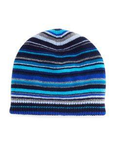 Paul Smith Multistripe Knit Beanie Hat Fringe Scarf f1f449ec0ac2
