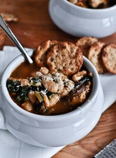 30 Minute White Bean + Chicken Soup.   howsweeteats.com