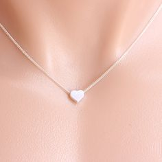 Heart Necklace. Sterling silver Heart Necklace Small by MonyArt, $23.80