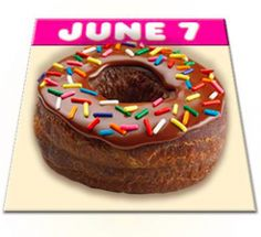 FREE Donut with any Beverage Purchase at Dunkin' Donuts (June 7th Only)