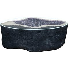 Amethyst Geode Table with Round Glass Top