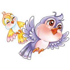 Любовь Птицы - Птицы Фото Pěkné Komiksy, Puffy Paint, Kreslené Filmy, Animaux