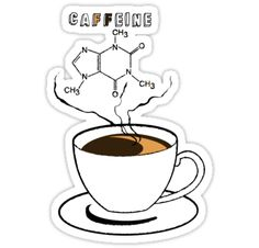 Educational design, featuring chemical structures that can be found in daily lives. / Introducing, caffeine, which can be found in coffee. More science related design coming soon. • Also buy this artwork on stickers, apparel, phone cases, and more.