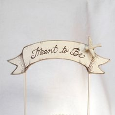 Banner Wedding Cake Topper, Banner Cake Topper, Baby Shower or Wedding, Hand Crafted on Etsy, $38.00