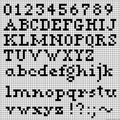 Cross Stitch Alphabet Patterns, Embroidery Alphabet, Letter Patterns, Alpha Patterns, Stitch Patterns, Cross Stitch Boards, Cross Stitch Letters, Cross Stitch Baby, Printable Graph Paper