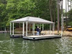 covered boat docks floating - Google Search