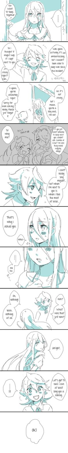"Fire Emblem Fates - Corrin x Azura ""Sleeping"" (Part 1) comic"