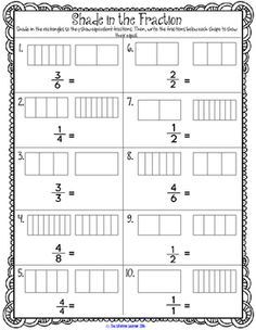 Equivalent Fractions unit with games, center activities, worksheets, and more! Great for third and fourth grade.