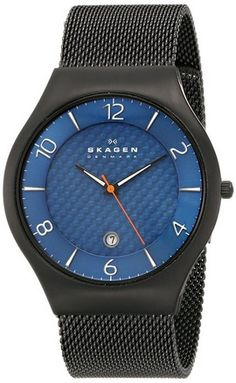 """cool Men's SKW6147 """"Grenen"""" Black Titanium Watch with Mesh Band - For Sale Check more at http://shipperscentral.com/wp/product/mens-skw6147-grenen-black-titanium-watch-with-mesh-band-for-sale/"""