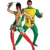Sassy Teenage Mutant Ninja Turtles and Deluxe Raphael Couples Costumes