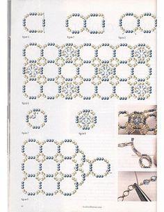 Схемы: Браслеты. Архив Beads and Button (2002 - 2005 гг)