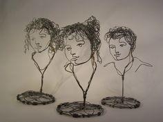 Friends-- wire sculpture http://www.heymanstudio.com/tag/wire-sculpture/#