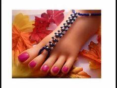 Handmade Beaded Barefoot Sandals. #barefootsandals #beadedjewellery #handmadejewellery