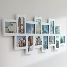 You are interested in: 12 multi size photo picture frame wall clock collage. (Here are selected photos on this topic, but full relevance is not guaranteed. Large Collage Picture Frames, White Photo Frames, Collage Frames, Photo Picture Frames, Frames On Wall, Photo Wall, Collage Photo, Cadre Photo Multiple, Multiple Photo Frames