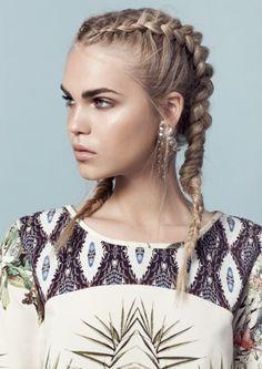 how to braid two french braids - Iskanje Google