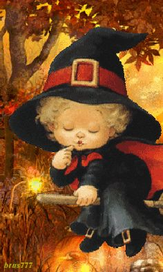 Floating Child Witch witch halloween halloween pictures halloween images halloween gifs halloween photos images of halloween