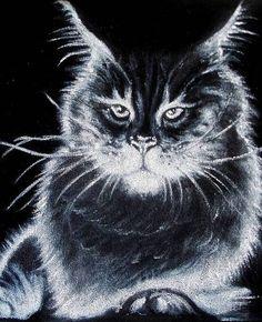 Кошки \ Картины на бархате-масло.. Обсуждение на LiveInternet - Российский Сервис Онлайн-Дневников