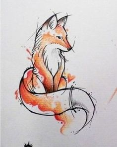 drawings of foxes fox watercolour watercolour drawings tattoo watercolor waterco. - drawings of foxes fox watercolour watercolour drawings tattoo watercolor watercolor cards watercolor ideas arctic fox drawings easy - Watercolor Fox Tattoos, Watercolour Drawings, Watercolor Paintings, Fox Watercolour, Gouache Painting, Watercolor Ideas, Fox Painting, Figure Painting, Tattoo Design Drawings