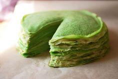 Блинный торт с зеленым чаем матча