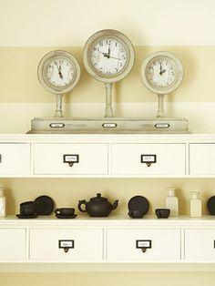 Wall shelves for over desk area