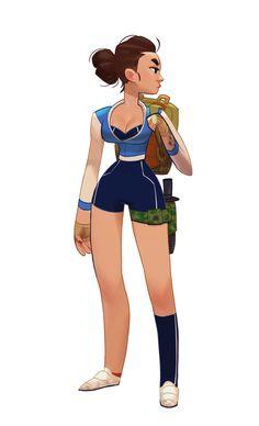 ArtStation - Blue Girl, Max Grecke