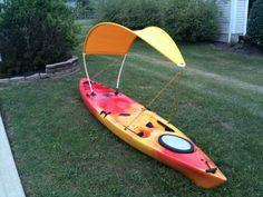 Homemade kayak bimini