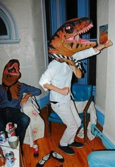 So two velociraptors walk into a frat party... stop me if you've heard this one.  @Amanda Lancaster