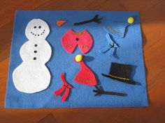 E needed some new tot school activities, and I have a box full of felt bits and pieces - time for a couple of felt sets for Christmas!  I'...