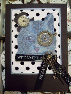 steampunk kitty by ms art
