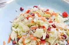 Frisse Rauwkost Salade van Chinese Kool met Mosterd Sinaasappel Dressing - Blij Suikervrij