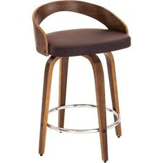 Grotto Counter Stool Multiple Colors, Brown