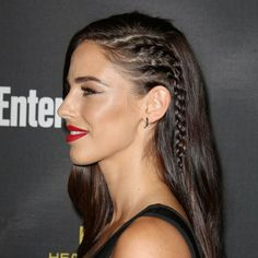Side braids which make your head look like it's shaved - 30 amazing party hair styles and how to recreate them | Stylist Magazine