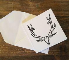 Little Skull Gift Card, set of 4, blank inside by GillianLowryArt on Etsy