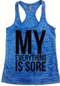 My Everything Hurts Workout Tank