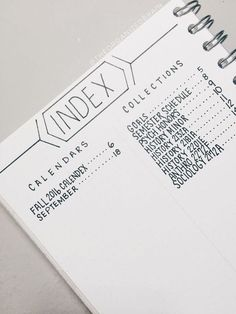 """Résultat de recherche d'images pour """"index bullet journal"""""""